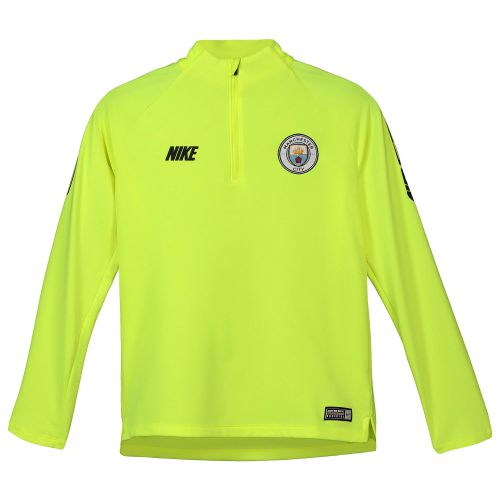 Manchester City Squad Drill Top - Yellow - Kids