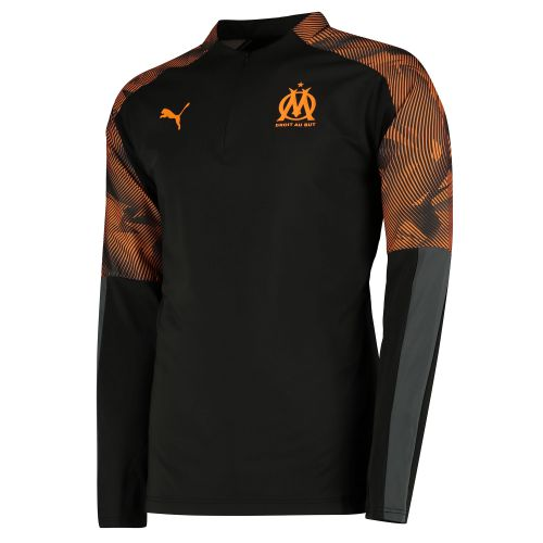 Olympique de Marseille 1/4 Zip Training Top - Black