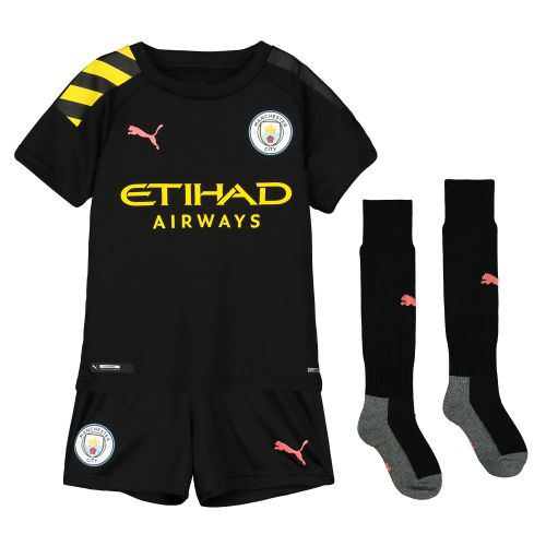Manchester City Away Mini Kit 2019-20 with De Bruyne 17 printing