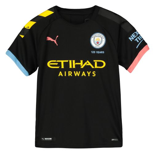 Manchester City Away Shirt 2019-20 - Kids with Laporte 14 printing