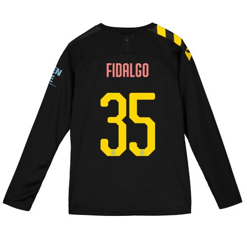 Manchester City Cup Away Shirt 2019-20 - Long Sleeve - Kids with FIDALGO 35 printing