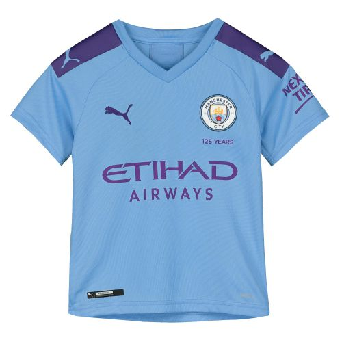 Manchester City Home Shirt 2019-20 - Kids with Champions 19 printing