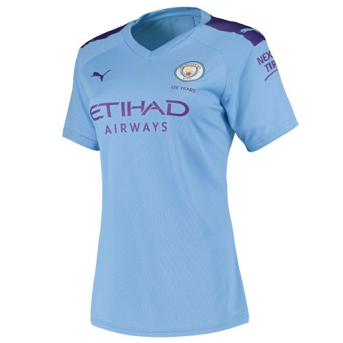 Manchester City Home Shirt 2019-20 - Womens with Sandler 34 printing