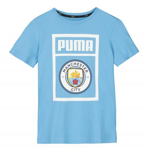Manchester City Shoe Tag T-Shirt - Light Blue - Kids