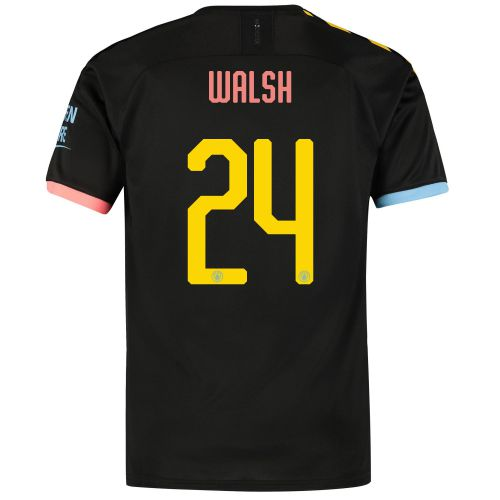 Manchester City Cup Away Shirt 2019-20 with Walsh 24 printing