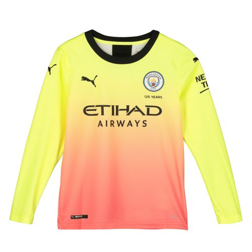 Manchester City Third Shirt 2019-20 - Long Sleeve - Kids with Stones 5 printing