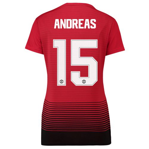 Manchester United Home Cup Shirt 2018-19 - Womens with Andreas 15 printing
