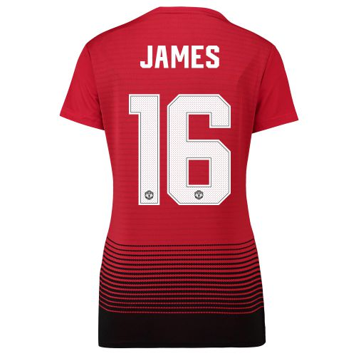 Manchester United Home Cup Shirt 2018-19 - Womens with James 16 printing