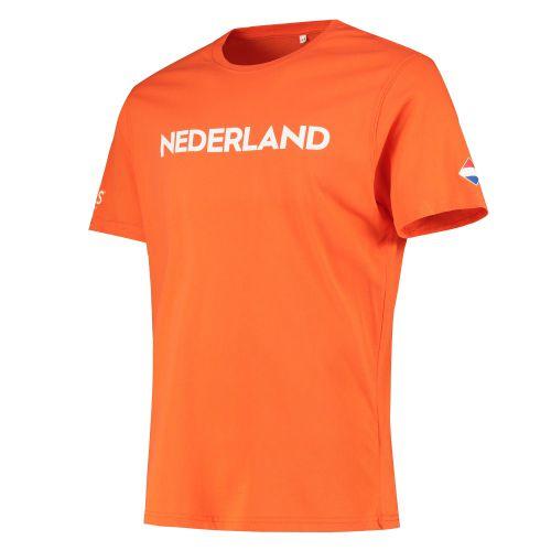 Nations League Holland Flag T-Shirt - Orange - Mens
