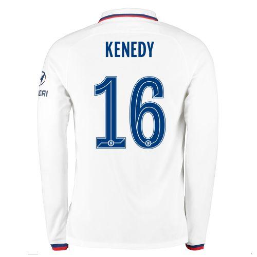 Chelsea Away Cup Stadium Shirt 2019-20 - Long Sleeve with Kenedy 16 printing