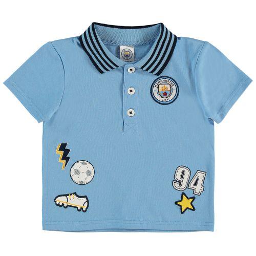 Manchester City Baby Polo Shirt - Sky - Boys