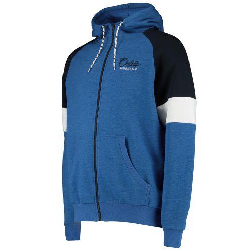Chelsea Cut and Sew Full Zip Hoody - Blue - Mens