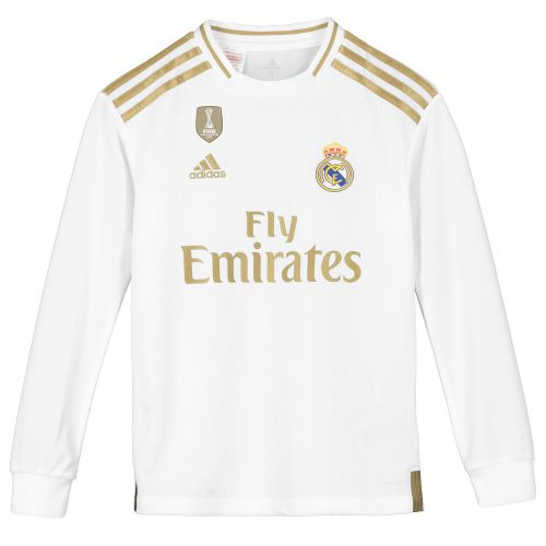 Real Madrid Home Shirt 2019-20 - Long Sleeve - Kids with E. Militão 3 printing
