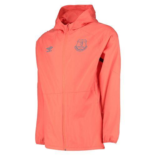 Everton Training Shower Jacket - Coral