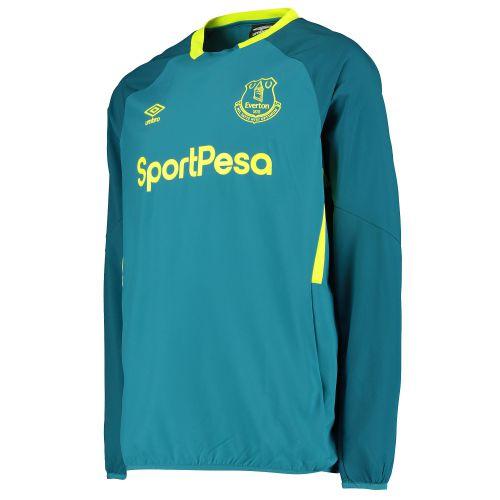 Everton Training Drill Top - Blue