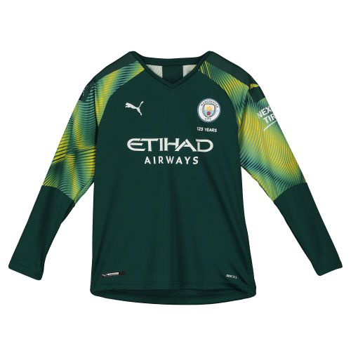 Manchester City Home Goalkeeper Shirt 2019-20 - Kids with Carson 33 printing