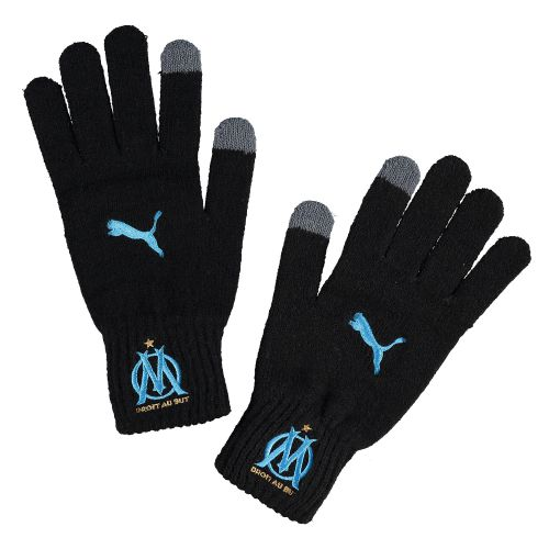 Olympique de Marseille Knitted Gloves - Black