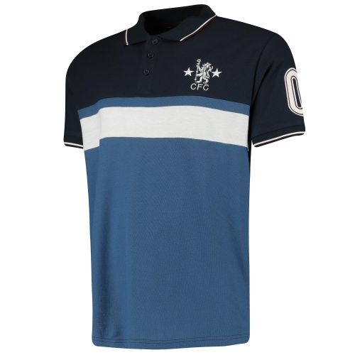 Chelsea Cut and Sew Panel Polo - Blue - Mens