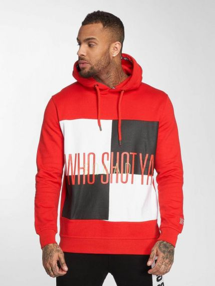 Who Shot Ya? / Hoodie WS Style in red