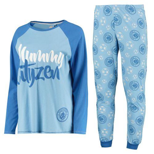 Manchester City LS Mummy Cityzen Pyjama Set - Blue - Womens