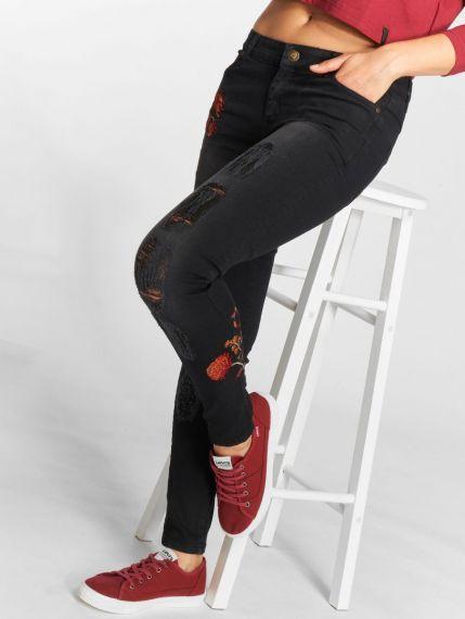Just Rhyse / Skinny Jeans Flora in black