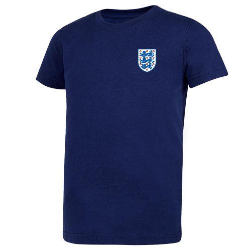 England Small Crest T-Shirt - Navy - Kids