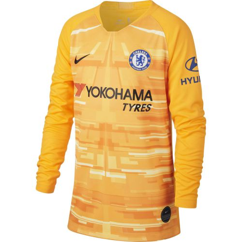 Chelsea Gold Stadium Goalkeeper Shirt 2019-20 - Long Sleeve - Kids with Arrizabalaga 1 printing