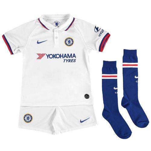 Chelsea Away Stadium Kit 2019-20 - Little Kids with Abraham 9 printing