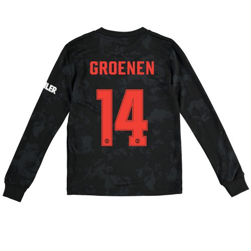 Manchester United Cup Third Shirt 2019 - 20 - Kids - Long Sleeve with Groenen 14 printing