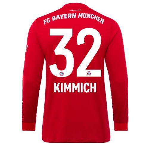 FC Bayern Home Long Sleeve Shirt 2019-19 - Kids with Kimmich 32 printing