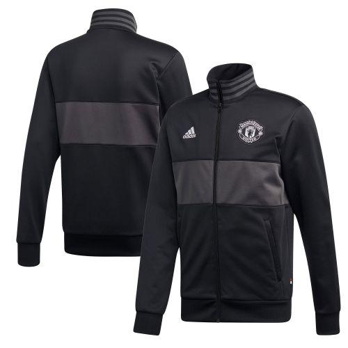 Manchester United Three Stripes Track Top - Black