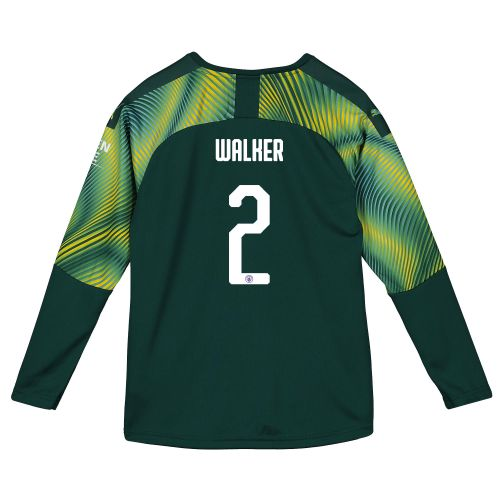 Manchester City Home Cup Goalkeeper Shirt 2019-20 - Kids with Walker 2 printing