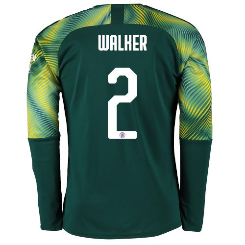 Manchester City Home Cup Goalkeeper Shirt 2019-20 with Walker 2 printing