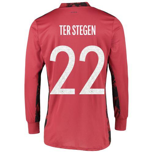 Germany Goalkeeper Shirt with Ter Stegen 22 printing