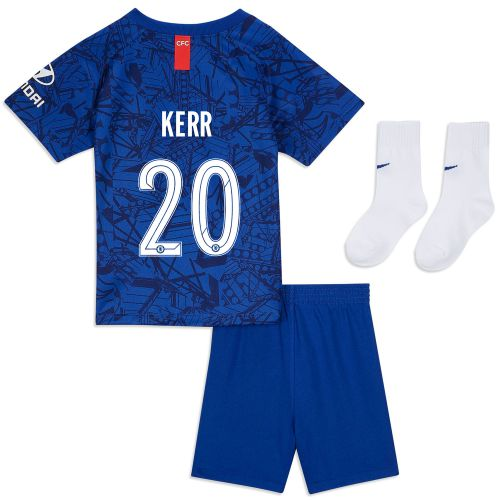 Chelsea Home Cup Stadium Kit 2019-20 - Infants with Kerr 20 printing