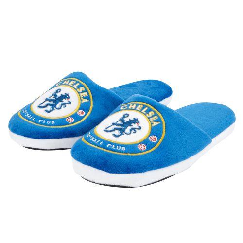 Chelsea Split Colour Slide Slippers - Blue - Adult