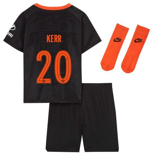 Chelsea Third Cup Stadium Kit 2019-20 - Infants with Kerr 20 printing