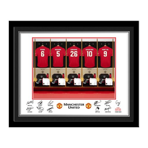 Manchester United Personalised Dressing Room Photo Framed