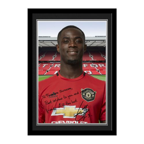 Manchester United Personalised Signature Photo Framed - Bailly