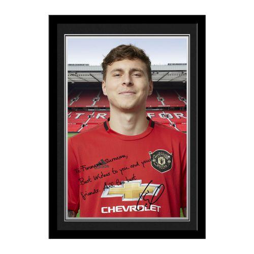 Manchester United Personalised Signature Photo Framed - Lindelof