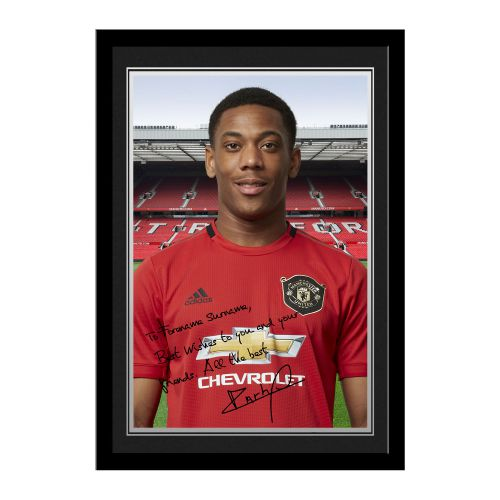Manchester United Personalised Signature Photo Framed - Martial
