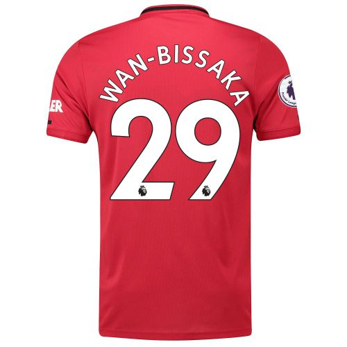 Manchester United Pre-Printed Home Shirt 2019 - 20 with Wan-Bissaka 29 & Premier League Player Badge