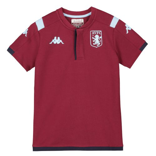 Aston Villa Home Cotton Polo - Claret - Kids