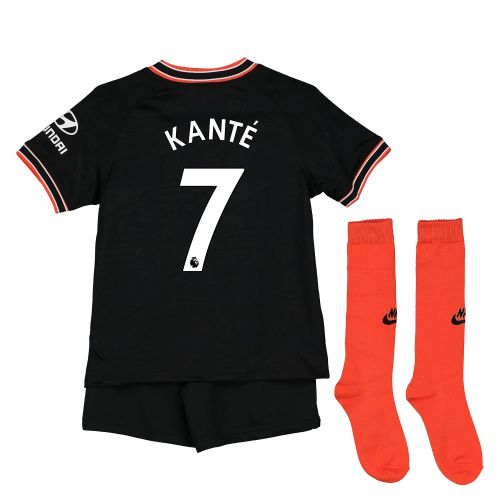 Chelsea Third Stadium Kit 2019-20 - Little Kids with Kanté 7 printing