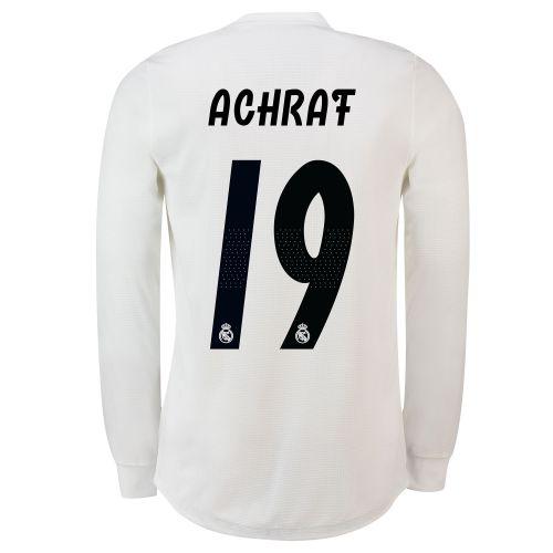 Real Madrid Home Adi Zero Shirt 2018-19 - Long Sleeve with Achraf 19 printing