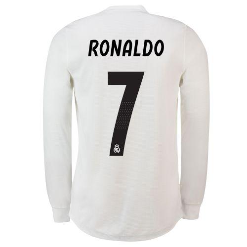 Real Madrid Home Adi Zero Shirt 2018-19 - Long Sleeve with Ronaldo 7 printing