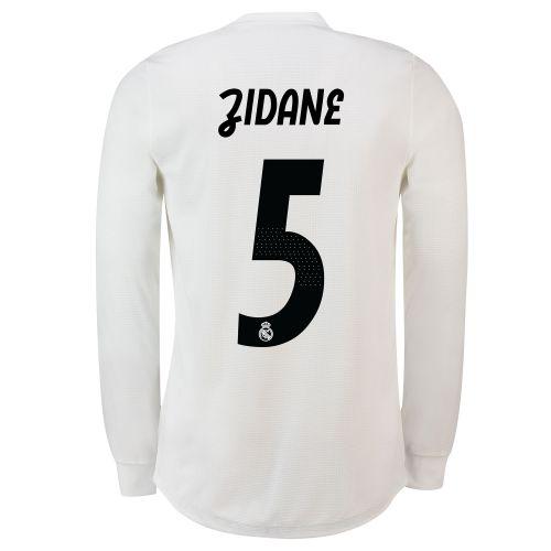 Real Madrid Home Adi Zero Shirt 2018-19 - Long Sleeve with Zidane 5 printing