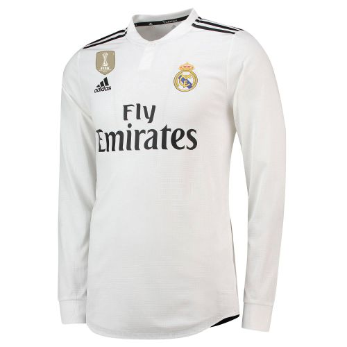 Real Madrid Home Authentic Shirt 2018-19 - Long Sleeve with Hunter 29 printing