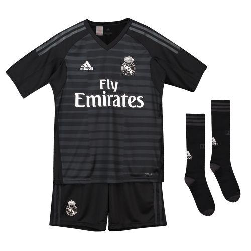 Real Madrid Home Goalkeeper Kids Kit 2018-19 with Luca 30 printing