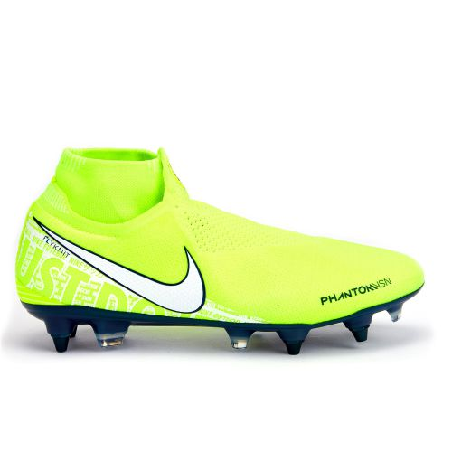 Nike Phantom VSN Elite DF Soft Ground Football Boots - Volt